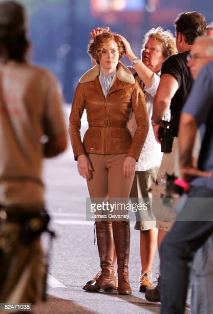 Actress Amy Adams on location for Night at the Museum 2 Battle of the Smithsonian at the Natural Museum of History on August 18 2008 in New York City
