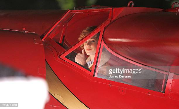 Actress Amy Adams on location for 'Night at the Museum 2 Battle of the Smithsonian' at the Natural Museum of History on August 18 2008 in New York...