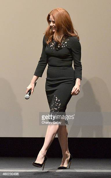 Actress Amy Adams onstage during The Weinstein Company's Big Eyes Los Angeles special screening in partnership with Lexus at Ace Hotel on December 9...
