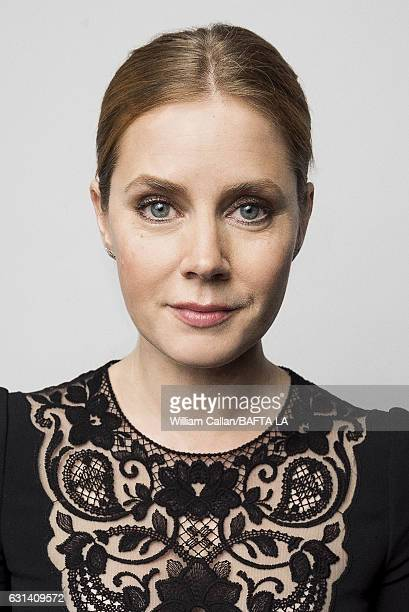 Actress Amy Adams poses for a portraits at the BAFTA Tea Party at Four Seasons Hotel Los Angeles at Beverly Hills on January 7 2017 in Los Angeles...