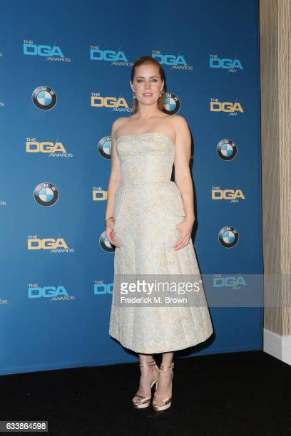 Actress Amy Adams poses in the press room during the 69th Annual Directors Guild of America Awards at The Beverly Hilton Hotel on February 4 2017 in...