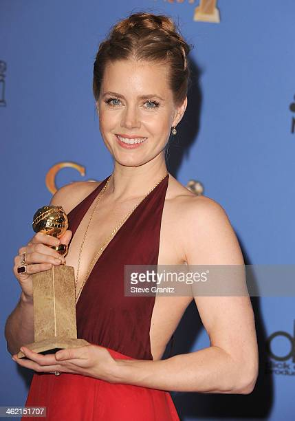 Actress Amy Adams poses in the press room during the 71st Annual Golden Globe Awards held at The Beverly Hilton Hotel on January 12 2014 in Beverly...