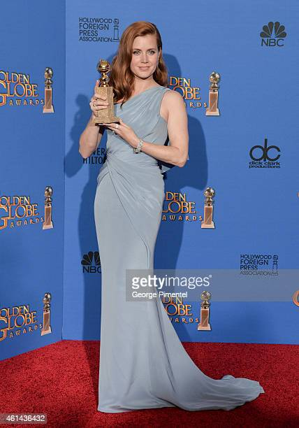 Actress Amy Adams poses in the press room during the 72nd Annual Golden Globe Awards at The Beverly Hilton Hotel on January 11 2015 in Beverly Hills...