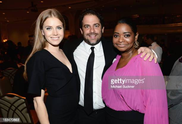 Actress Amy Adams producer Brett Ratner and actress Octavia Spencer attend the 8th Annual GLSEN Respect Awards held at Beverly Hills Hotel on October...