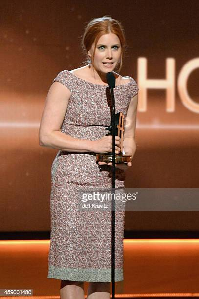 Actress Amy Adams speaks onstage during the 18th Annual Hollywood Film Awards at The Palladium on November 14 2014 in Hollywood California