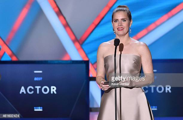 Actress Amy Adams speaks onstage during the 20th annual Critics' Choice Movie Awards at the Hollywood Palladium on January 15 2015 in Los Angeles...