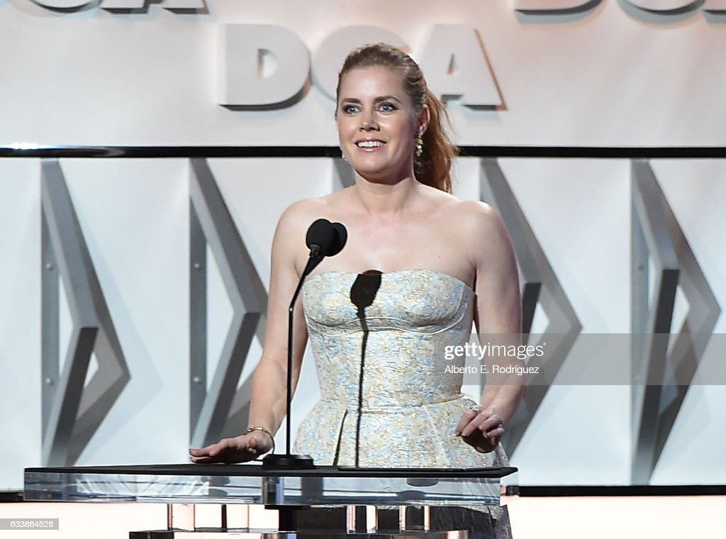 Actress Amy Adams speaks onstage during the 69th Annual Directors Guild of America Awards at The Beverly Hilton Hotel on February 4, 2017 in Beverly Hills, California.