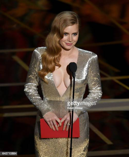 Actress Amy Adams speaks onstage during the 89th Annual Academy Awards at Hollywood Highland Center on February 26 2017 in Hollywood California