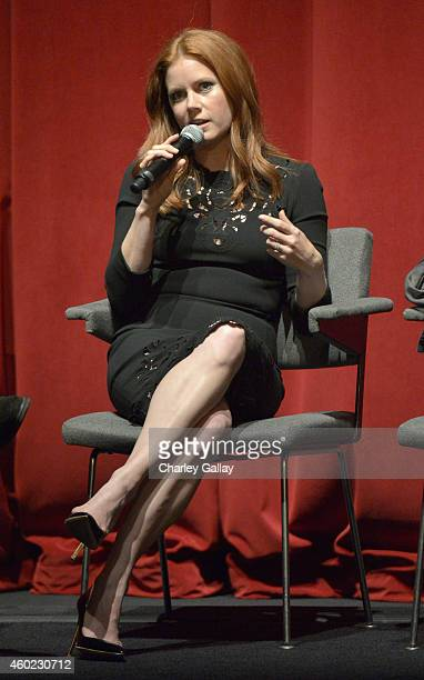Actress Amy Adams speaks onstage during The Weinstein Company's Big Eyes Los Angeles special screening in partnership with Lexus at Ace Hotel on...