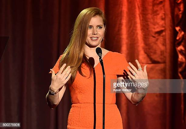 Actress Amy Adams speaks onstage during TrevorLIVE LA 2015 at Hollywood Palladium on December 6 2015 in Los Angeles California