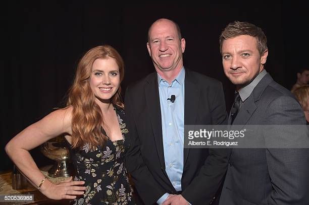 Actress Amy Adams, Vice Chairman of Paramount Pictures Rob Moore and actor Jeremy Renner attend the CinemaCon 2016 Gala Opening Night Event:...