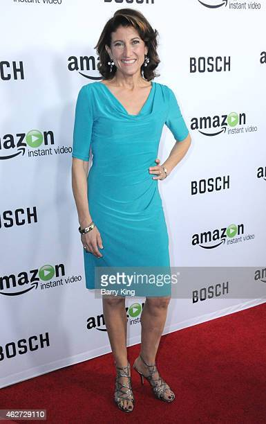 Actress Amy Aquino arrives at screening of Amazon's 1st Original Drama Series 'Bosch' at The Dome at Arclight Hollywood on February 3, 2015 in...