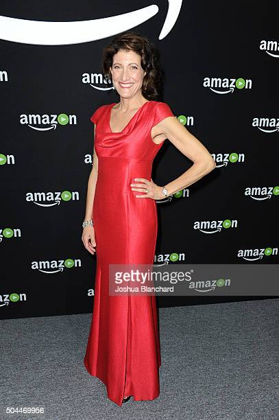 Actress Amy Aquino attends Amazon Studios Golden Globe Awards Party at The Beverly Hilton Hotel on January 10, 2016 in Beverly Hills, California.