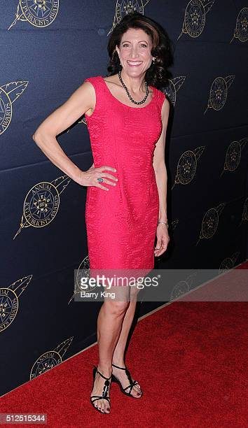 Actress Amy Aquino attends the 53rd Annual International Cinematographers Guild Publicists Luncheon at the Beverly Hilton Hotel on February 26, 2016...