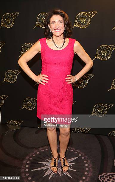 Actress Amy Aquino poses backstage at the 53rd Annual ICG Publicists Awards at The Beverly Hilton Hotel on February 26, 2016 in Beverly Hills,...