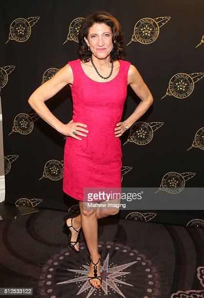 Actress Amy Aquino poses backstage at the 53rd Annual ICG Publicists Awards at The Beverly Hilton Hotel on February 26 2016 in Beverly Hills...