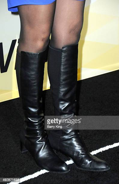 Actress Amy Aquino shoe detail attends IMDb's 25th Anniversary Party CoHosted By Amazon Studios Presented By Visine at the Sunset Tower Hotel on...