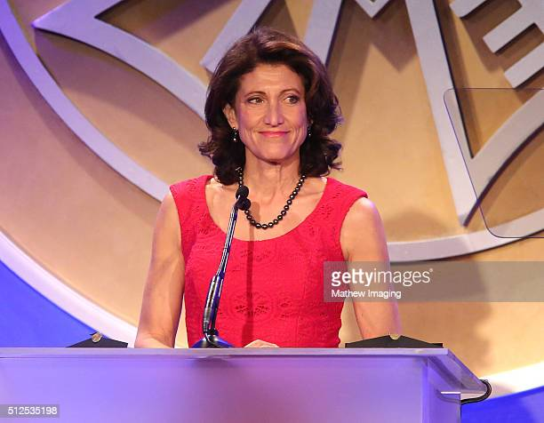 Actress Amy Aquino speaks at the 53rd Annual ICG Publicists Awards at The Beverly Hilton Hotel on February 26, 2016 in Beverly Hills, California.