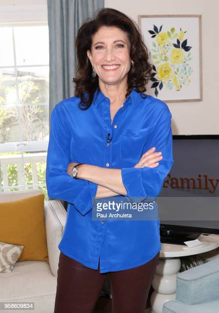 "Actress Amy Aquino visit Hallmark's ""Home & Family"" at Universal Studios Hollywood on May 14, 2018 in Universal City, California."