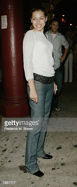 Actress Amy Bassette attends the grand opening of Drake's Venice restaurant on August 27 2002 in Venice Beach California Drake's celebrated their...