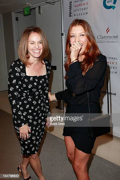 Actress Amy Brenneman and actress Kate Walsh pose at the National Women's History Museum Hosts Exclusive Cocktail Reception Honoring Jennifer Siebel...