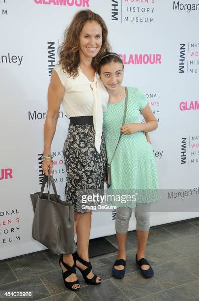 Actress Amy Brenneman and daughter Charlotte Tucker Silberling arrive at the National Women's History Museum's 3rd Annual Women Making History event...