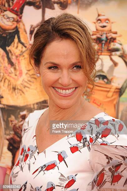 """Actress Amy Brenneman and daughter Charlotte Tucker Silberling arrive at the premiere of Focus Features' """"The Boxtrolls"""" held at Universal CityWalk."""