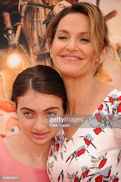 Actress Amy Brenneman and daughter Charlotte Tucker Silberling arrive at the premiere of Focus Features' The Boxtrolls held at Universal CityWalk