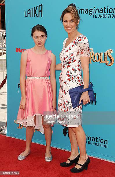 """Actress Amy Brenneman and daughter Charlotte Tucker Silberling attend the premiere of """"The Boxtrolls"""" at Universal CityWalk on September 21, 2014 in..."""