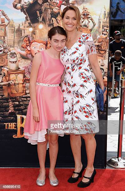 Actress Amy Brenneman and daughter Charlotte Tucker Silberling attend the premiere of 'The Boxtrolls' at Universal CityWalk on September 21 2014 in...