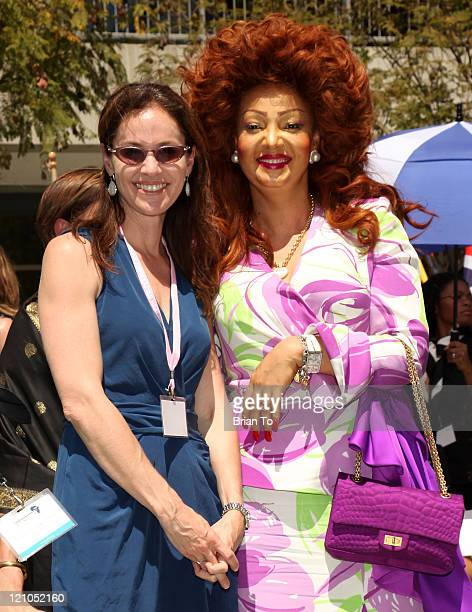Actress Amy Brenneman and First Lady Chantal Biya of Cameron pose at the US Doctors for Africa African First Ladies 1st Annual Historic Health Summit...