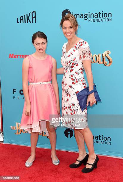 """Actress Amy Brenneman and her daughter Charlotte Tucker Silberling attend the premiere of Focus Features' """"The Boxtrolls"""" - Red Carpet at Universal..."""