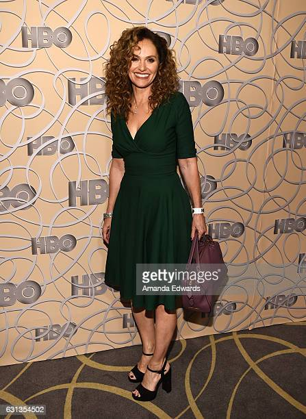 Actress Amy Brenneman arrives at HBO's Official Golden Globe Awards After Party at Circa 55 Restaurant on January 8 2017 in Los Angeles California
