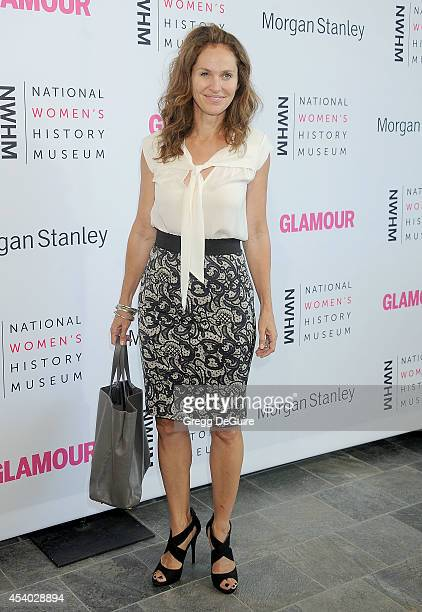 Actress Amy Brenneman arrives at the National Women's History Museum's 3rd Annual Women Making History event at Skirball Cultural Center on August 23...