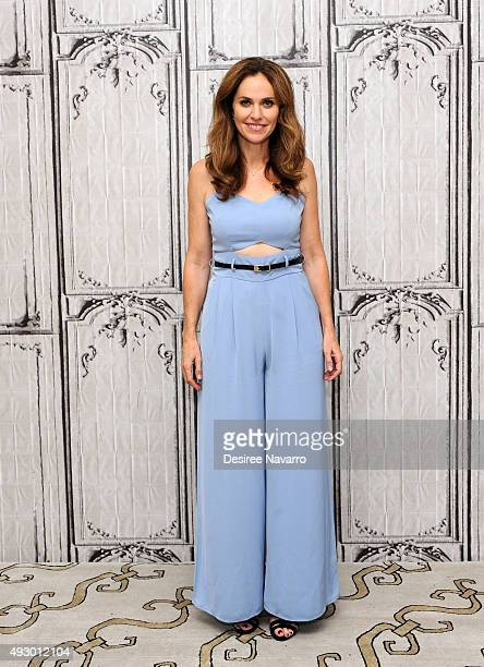 Actress Amy Brenneman attends AOL BUILD presents Amy Brenneman at AOL Studios In New York on October 16 2015 in New York City