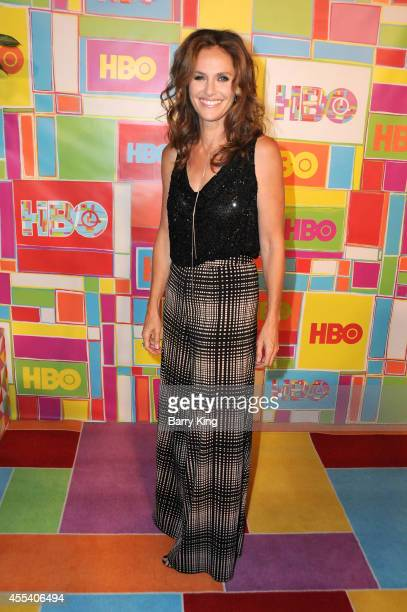 Actress Amy Brenneman attends HBO's 2014 Emmy after party at The Plaza at the Pacific Design Center on August 25 2014 in Los Angeles California