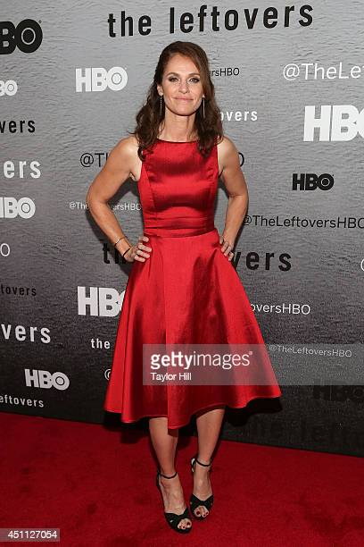 Actress Amy Brenneman attends The Leftovers premiere at NYU Skirball Center on June 23 2014 in New York City