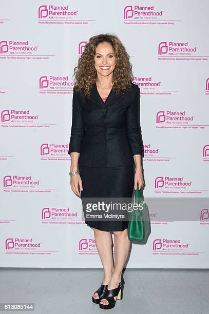 Actress Amy Brenneman attends the 'Politics Sex and Cocktails' fundraiser at Spectra by Wolfgang Puck at the Pacific Design Center on October 6 2016...