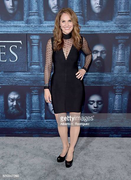 Actress Amy Brenneman attends the premiere of HBO's Game Of Thrones Season 6 at TCL Chinese Theatre on April 10 2016 in Hollywood California
