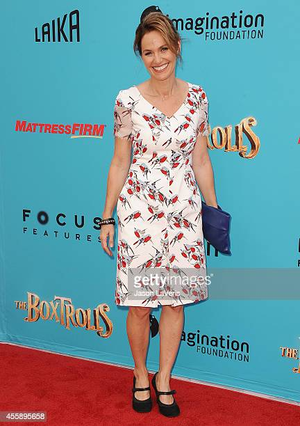 Actress Amy Brenneman attends the premiere of 'The Boxtrolls' at Universal CityWalk on September 21 2014 in Universal City California