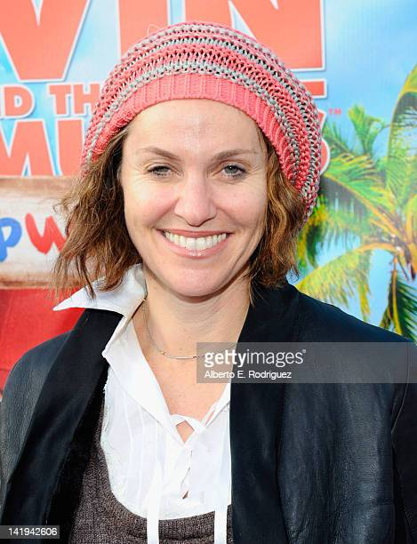 Actress Amy Brenneman attends Twentieth Century Fox Home Entertainment's Alvin and the Chipmunks Chipwrecked Bluray and DVD release party at El Rey...