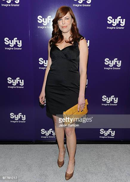 Actress Amy Bruni attends the 2010 Syfy Upfront party at The Museum of Modern Art on March 16 2010 in New York City