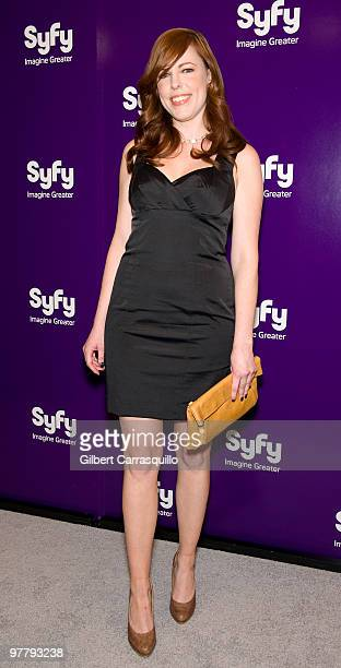 Actress Amy Bruni attends the SYFY 2010 Upfront Party at The Museum of Modern Art on March 16 2010 in New York New York