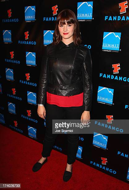 Actress Amy C Newbold attends Summit Entertainment ComicCon VIP Celebration red carpet sponsored by Fandango at Hard Rock Hotel San Diego on July 18...