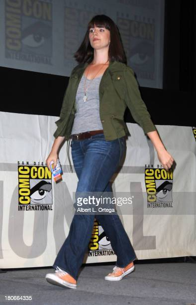 Actress Amy C Newbold participates in Summit Entertainment's 'Divergent' and 'Ender's Game' panels on Day 1 of the 2013 ComicCon International held...