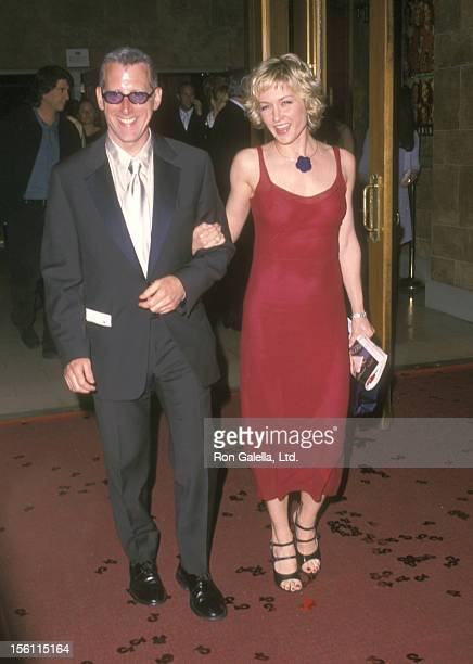 Actress Amy Carlson and guest attend the '42nd Street' Opening Night Performance on May 2 2001 at Ford Center for the Performing Arts in New York...