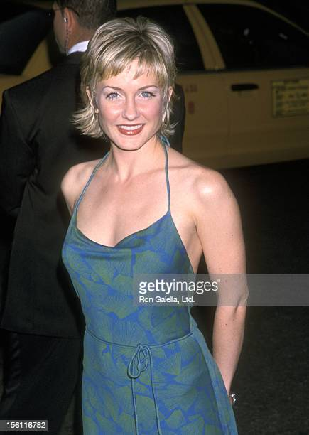 Actress Amy Carlson attends The Fresh Air Fund Salutes American Heroes on June 7 2001 at Tavern on the Green in New York City New York