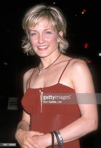 Actress Amy Carlson attends the Launch Party for Revlon's New 'Absolutely Fabulous' Campaign on June 19 2001 at New Globe Restaurant in New York City...