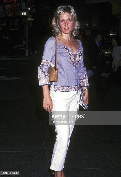 Actress Amy Carlson attends the Screening of the Showtime Original Movie 'Women vs Men' on July 25 2002 at the Paramount Screening Room in New York...