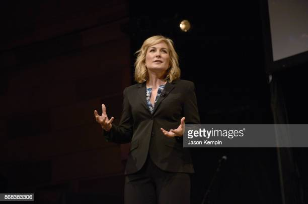 Actress Amy Carlson performs on stage as Equality Now celebrates 25th Anniversary at Make Equality Reality Gala at Gotham Hall on October 30 2017 in...